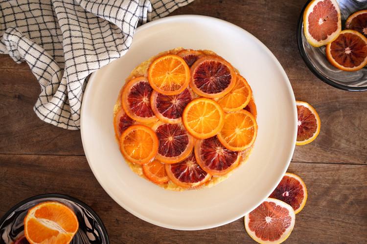 blood orange ricotta cake, photo Dan Rajter