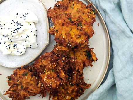 Winter vegetable fritters!