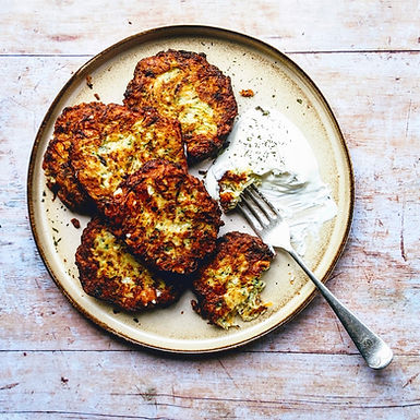 Kolokithokeftedes! Courgette, mint and feta fritters.