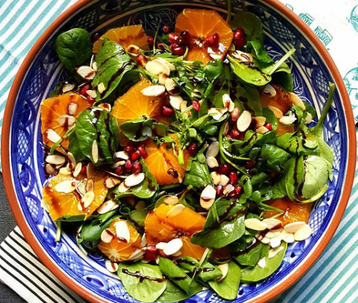 My delicious Persian inspired orange and pomegranate salad