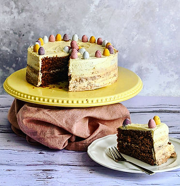 Double chocolate Easter egg cake