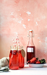 Summer Berry and rose cordial
