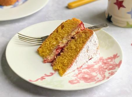 Victoria Sponge, a brilliantly British bake.