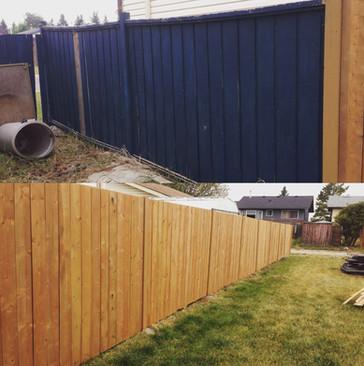 Wood Fence Build