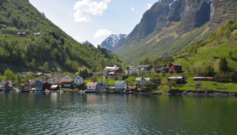 Town along the Fjords of Norway