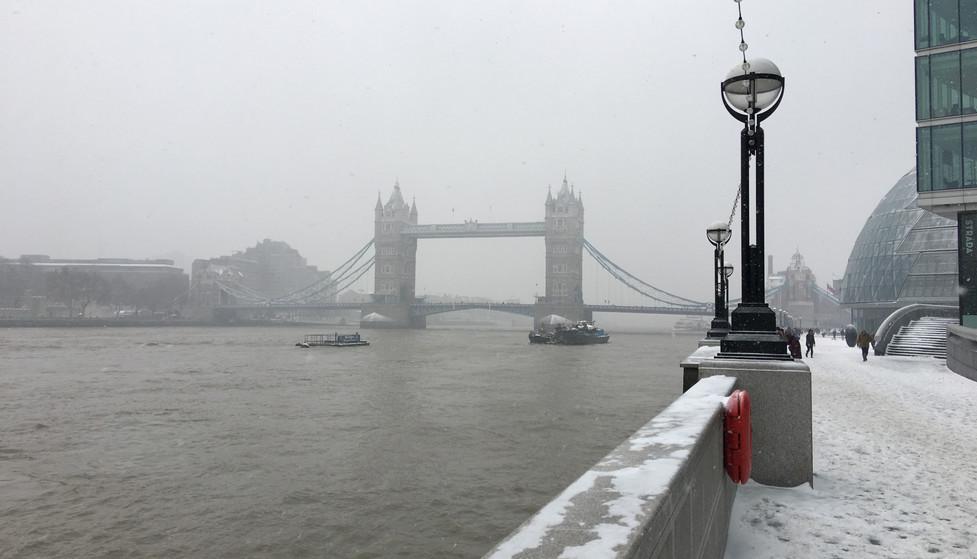 Snowstorm in London