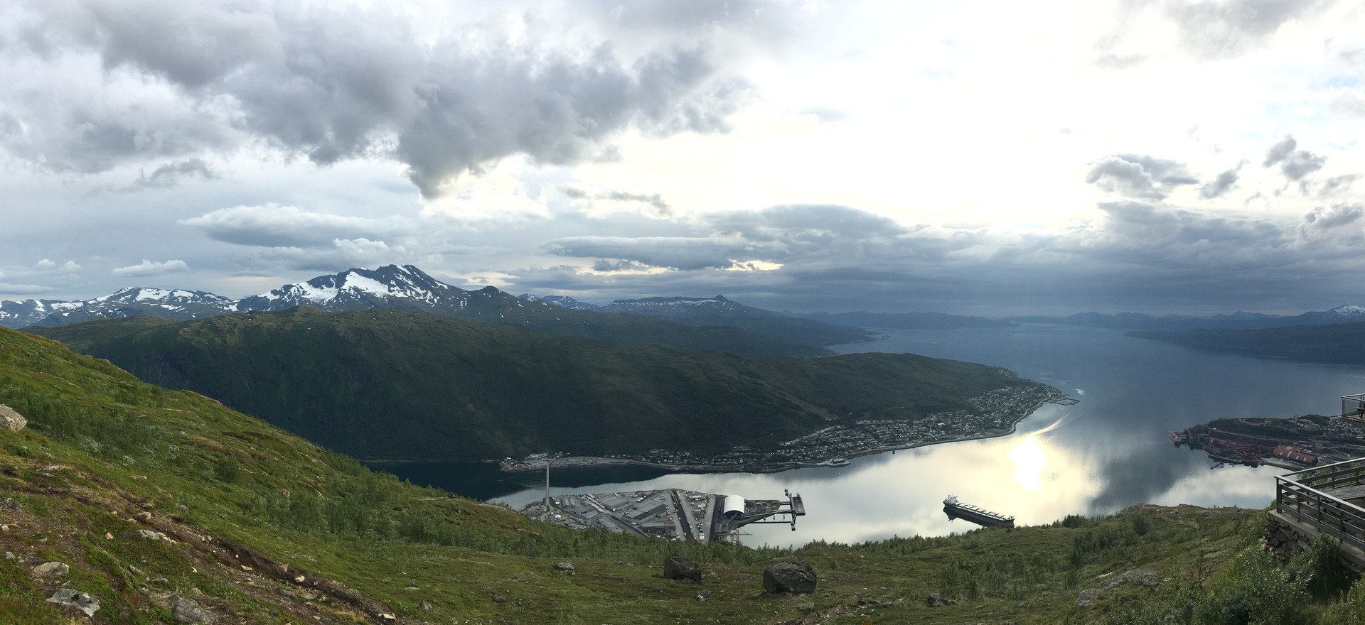 View of the Fjord of Narvik, Norway