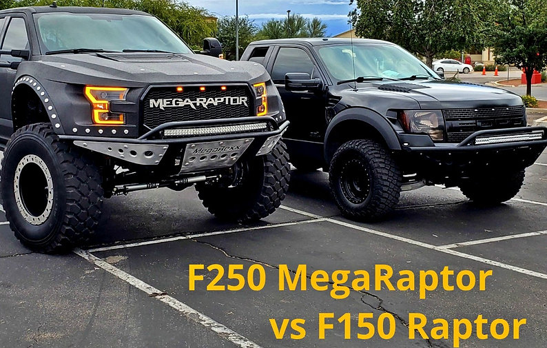 Monster truck, diesel super duty on 46s that looks like a Raptor!