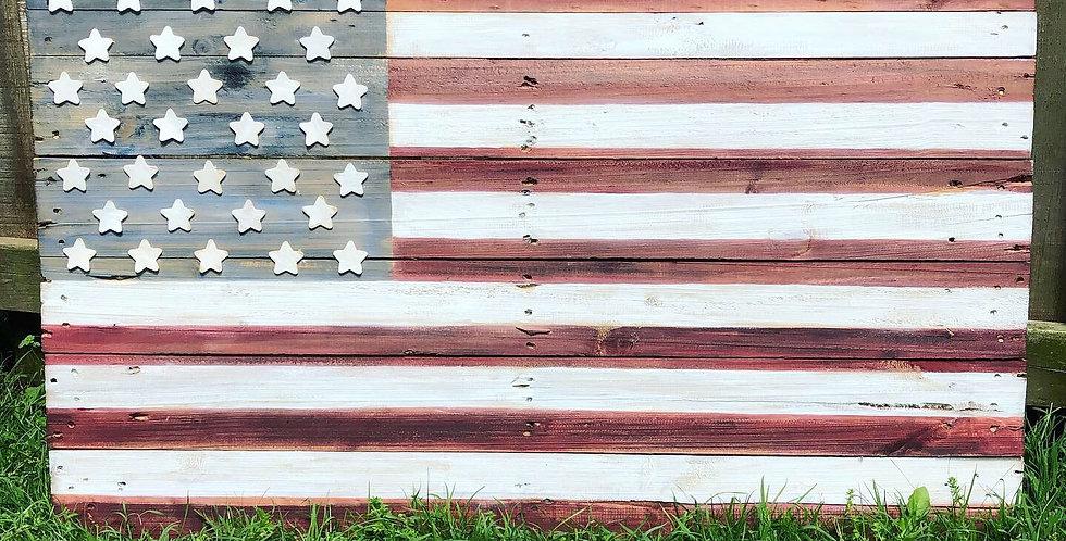 Pallet Wood American Flag
