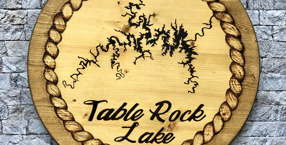 Round Table Rock Lake Map