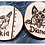Thumbnail: Puppy Wood Slice Portraits