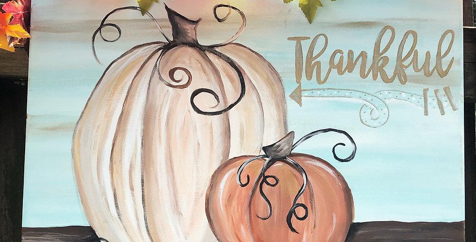 Thankful Pumpkin Painting