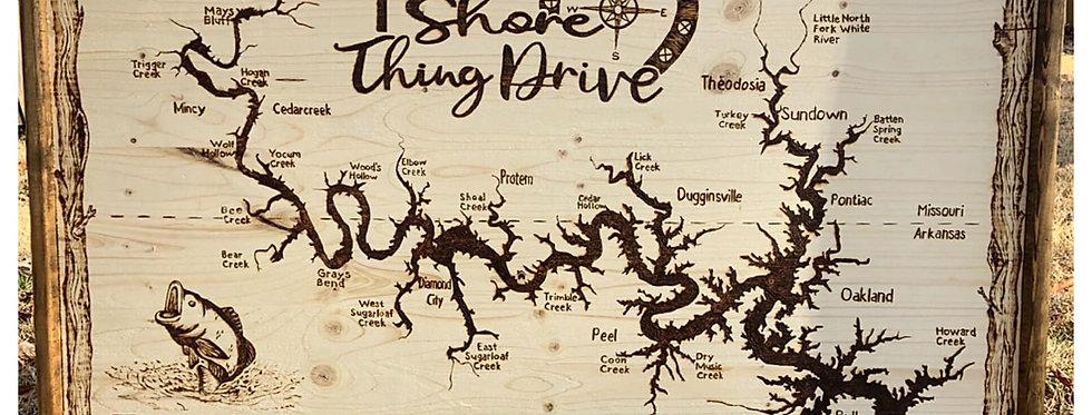 Custom Large Lake Maps: $550 & up