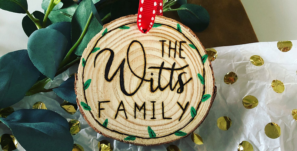 Last Name Ornaments
