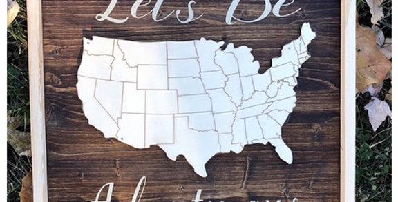 Let's Be Adventurous American Map
