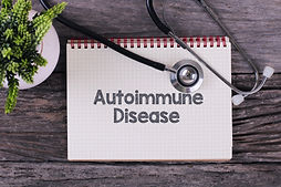 Autoimmune Disease word on notebook,stet