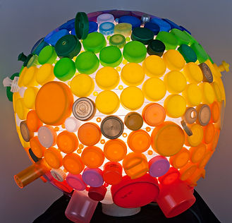 Recycled plastic lids light
