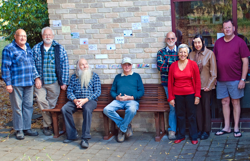 Volunteers from the Port Cygnet Men's Shed & Cygnet Library Garden