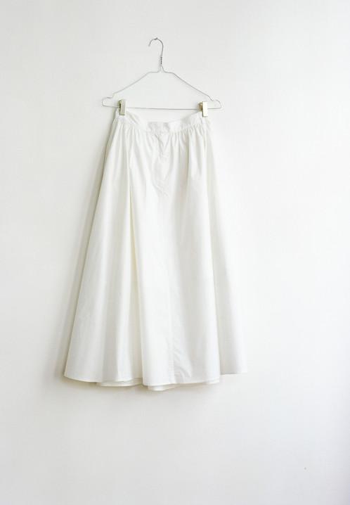 White Cotton Long Skirt | FAÇON JACMIN - Denim Clothing for Women