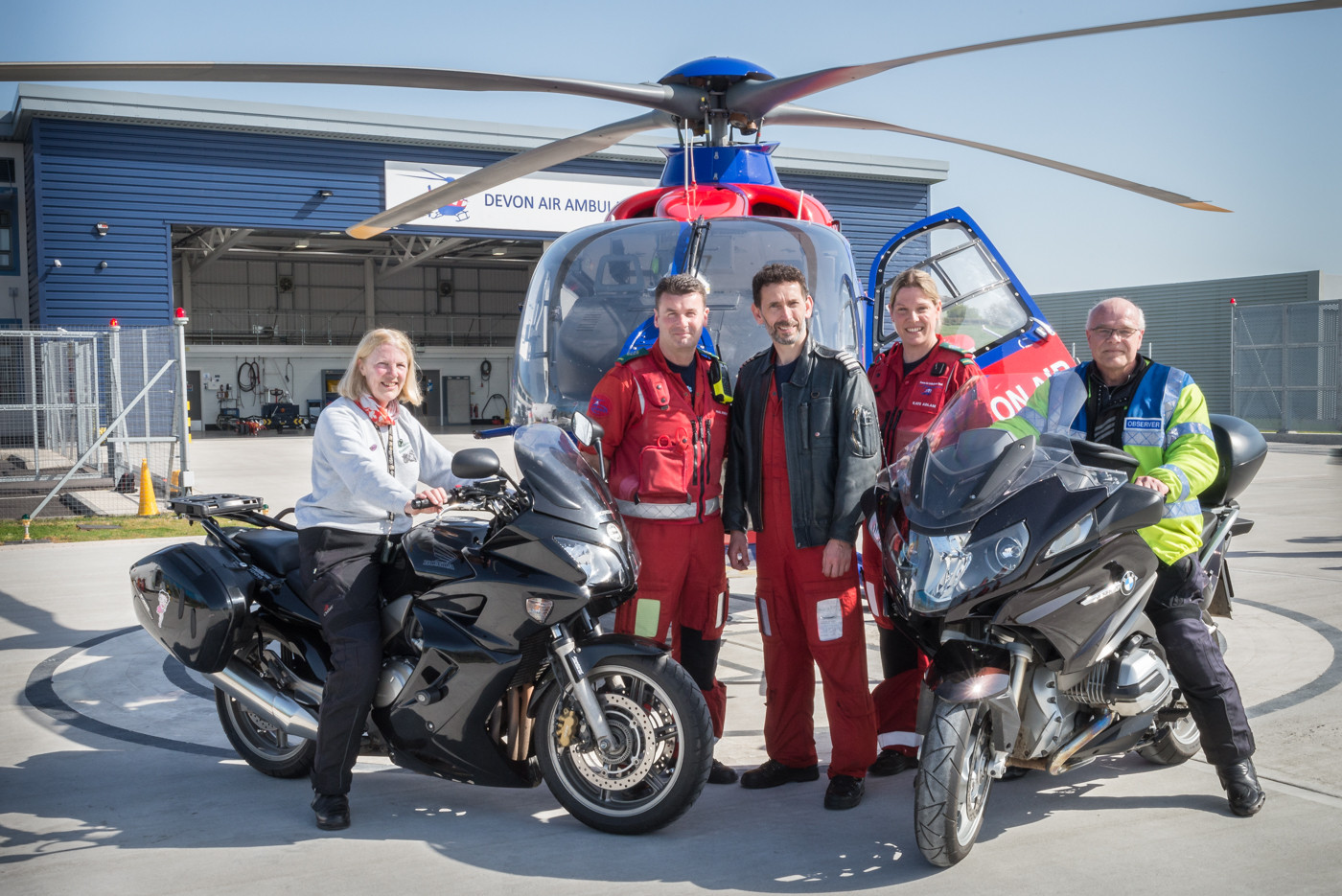 A reward for piloting the DAAT annual fund-raising ride out -