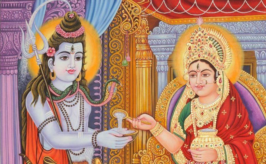 annapurna hindu goddess of nourishment and food