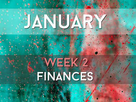 Finances: 2021 Reboot - January, Week 2