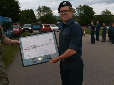 Cadet Flt Sgt leaves RAF Air Cadets for the RAF