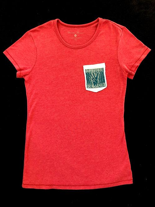 Custom Sewn Red - Believe Pocket White - Large