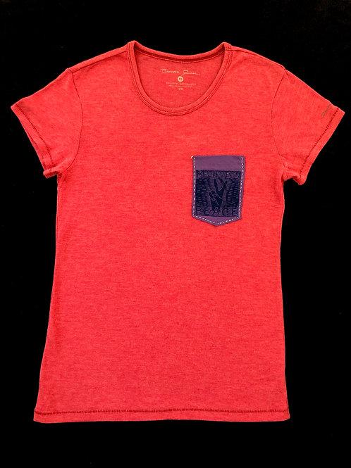 Custom Sewn Red - Believe Pocket Purple - Medium