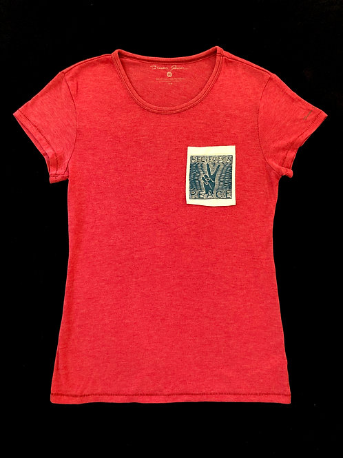 Custom Sewn Red - Believe Pocket White - Medium