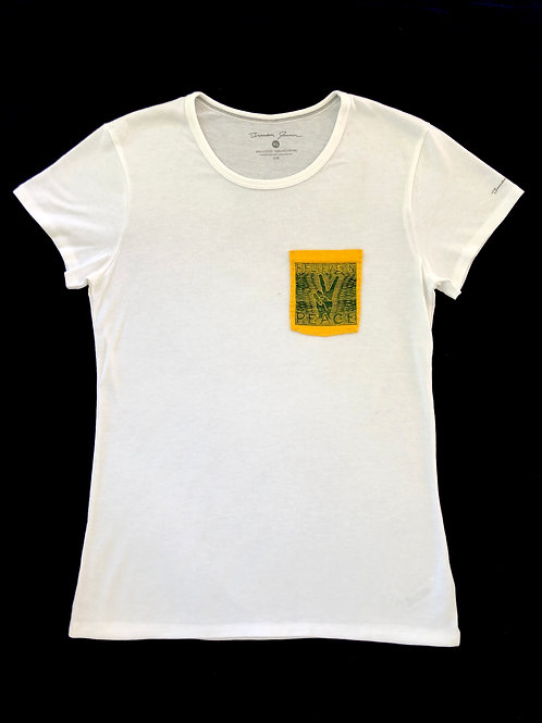 Custom Sewn White - Believe Pocket Yellow - XL