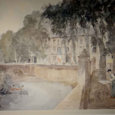 My Father Painting at Brantome