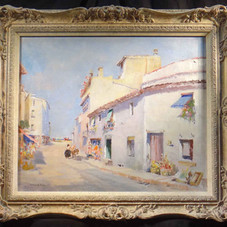 Spanish Street scene with Donkey