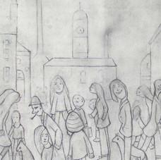Mill scene sketch