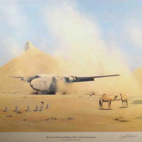 Reverse thrust at Beihan, west Aden