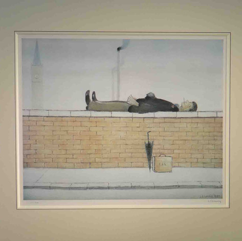 Man lying on a wall (Temporarily unavailable)