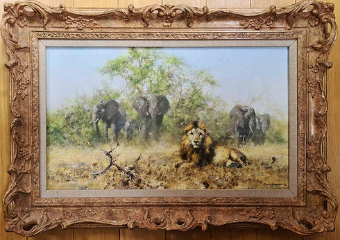 davidshepherd-original-elephantsandlion-