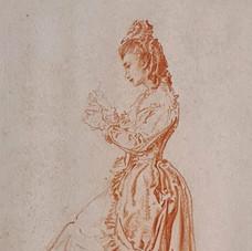 Girl in Spanish dress Mantilla