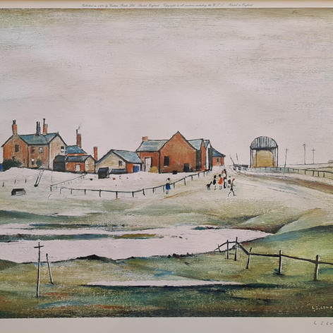 Landscape with farm buildings