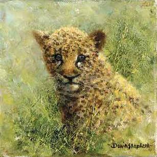 Leopard cub cameo