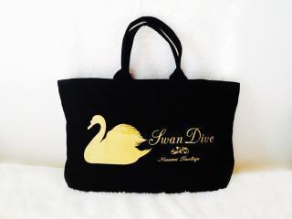BG-100  Tote bag with zipper 【Swan Dive】(L)