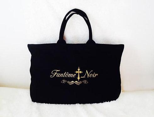 BG-101  Tote bag with zipper 【Fantôme † Noir】(L)