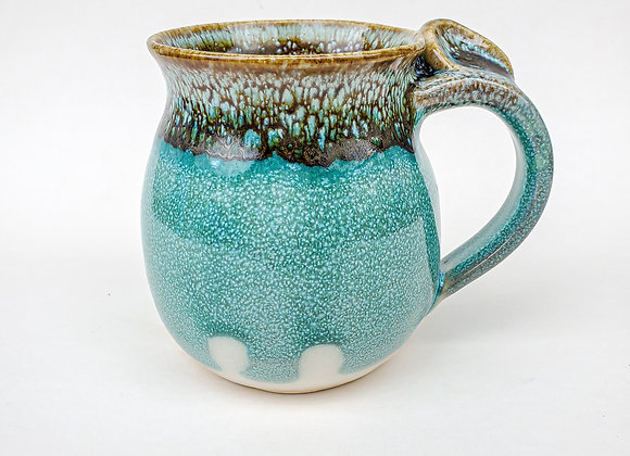 Smooth Turquoise Mug, medium size, right hand