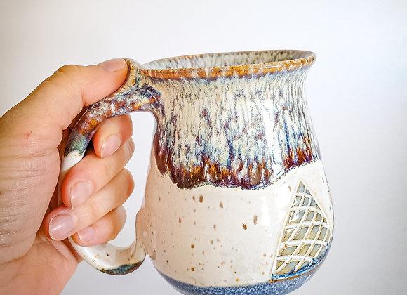 Winter tree mug - LEFT HAND