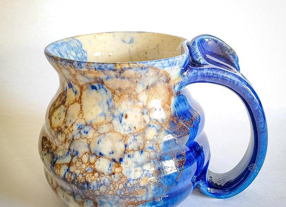 Bubble mug, blue handle
