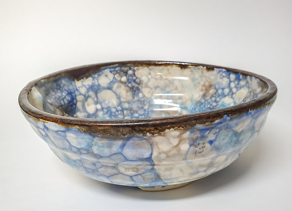 Atlantic Ocean cereal bowl, with added light blue
