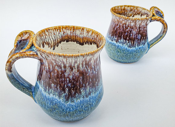 Medium Ocean Shore mug, LEFT hand