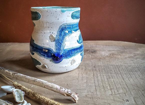 Beach glass mug