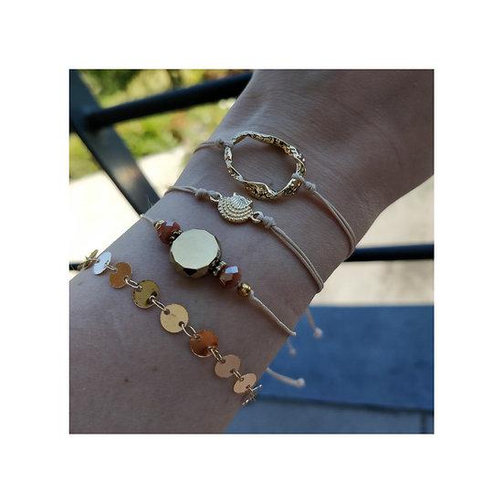 Bracelet Set Shell-Coins