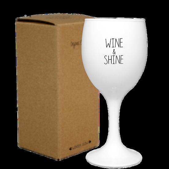Sojakaars wijnglas - Wine and shine